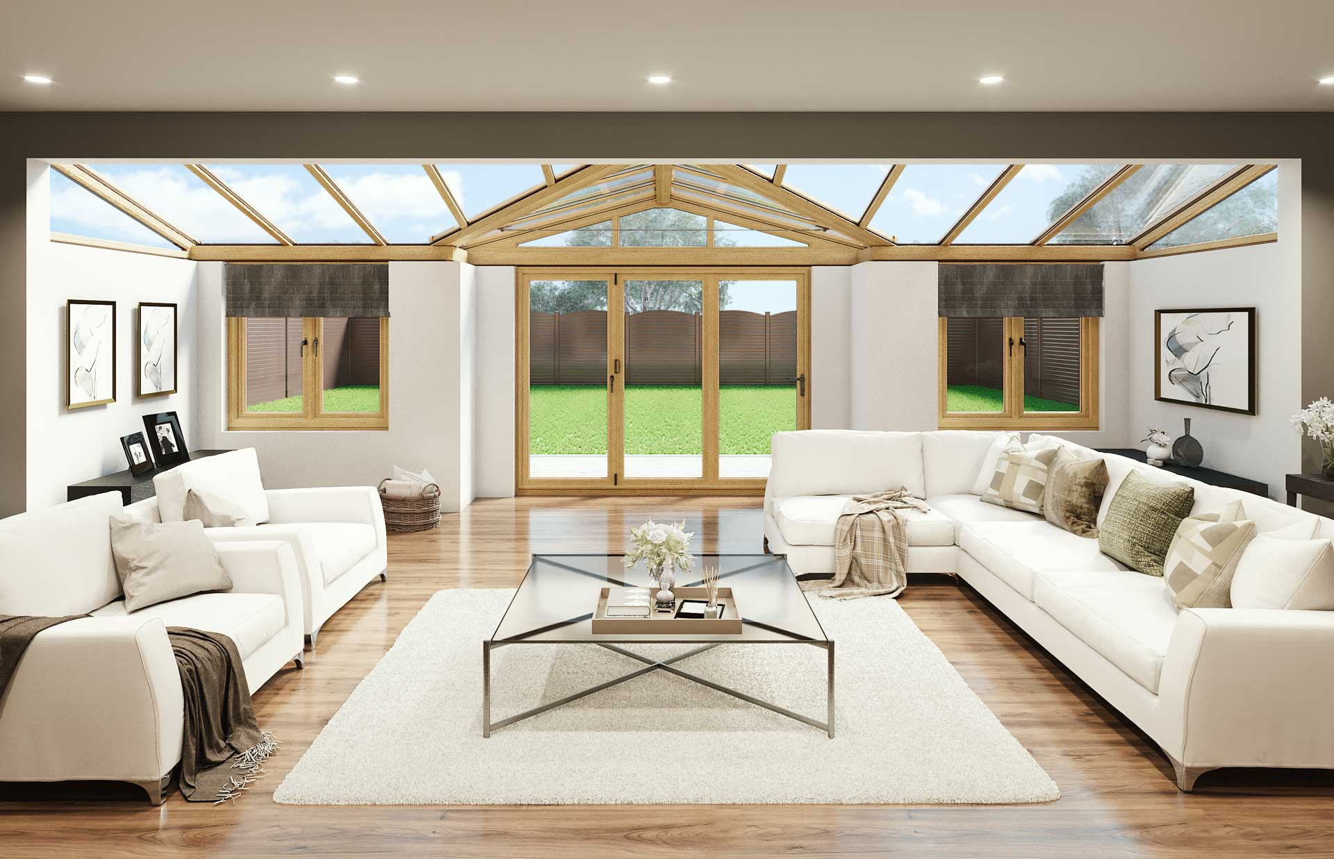 T-shaped conservatories romsey